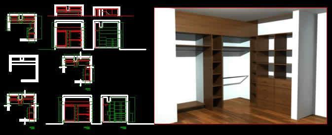 Industrial Design Schools >> Walking Closet 3D DWG Model for AutoCAD • Designs CAD