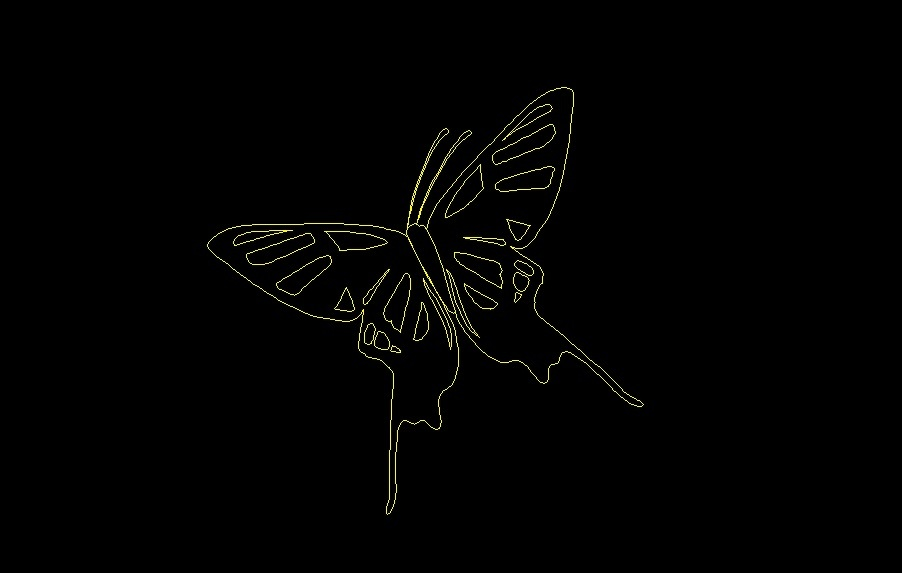 Flying Butterfly Insect Animal Top View Plan 2d Dwg Block