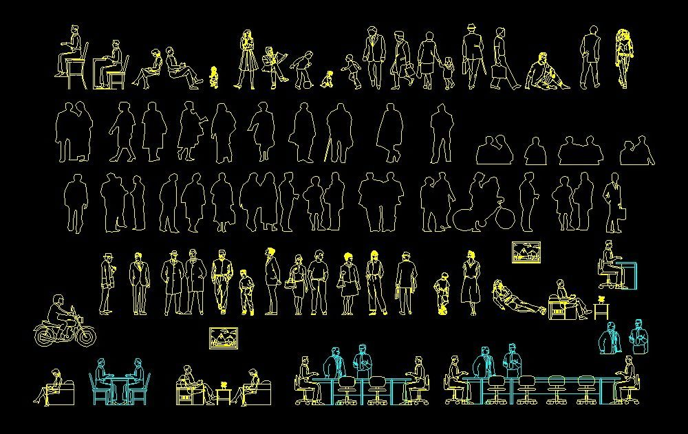 People Human Figures Men And Women Front And Side