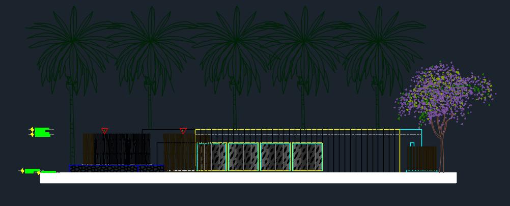 Modern Spa 2D DWG Design Elevation for AutoCAD