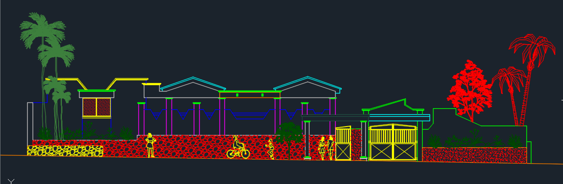 Holiday Resort 2d Dwg Design Section For Autocad Designs Cad