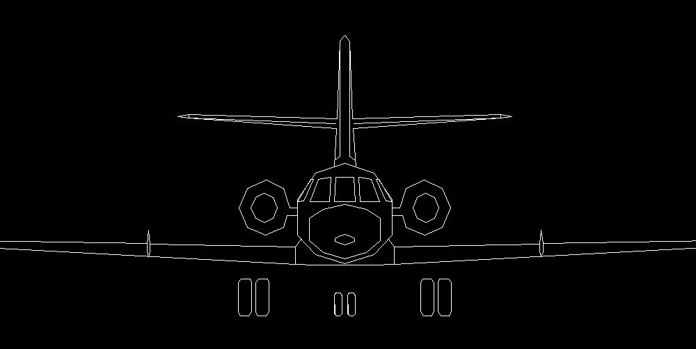 Front Elevation Autocad 2d : United states military strategic bomber aircraft front