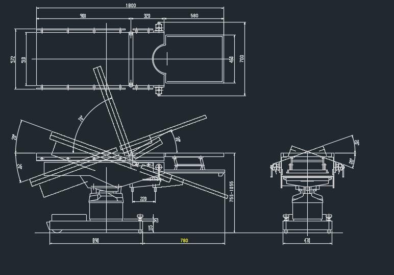 Hospital furniture 2d dwg block for autocad designs cad for Bed elevation cad block free download