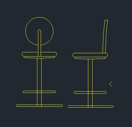 Bar Chair 2D DWG Block for Autocad • Designs CAD