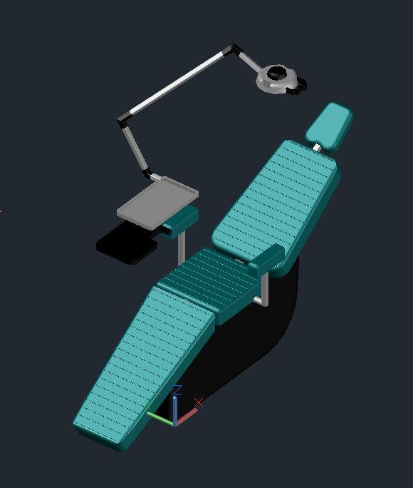 Dentist Office Dental Equipment 2d Amp 3d Dwg Block For