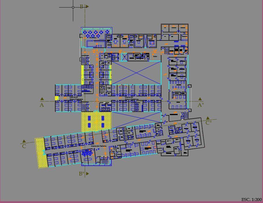 General Hospital 2d 3d Dwg Full Project For Autocad