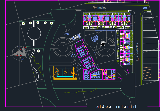 Little Town For Children 2d Dwg Design Block For Autocad