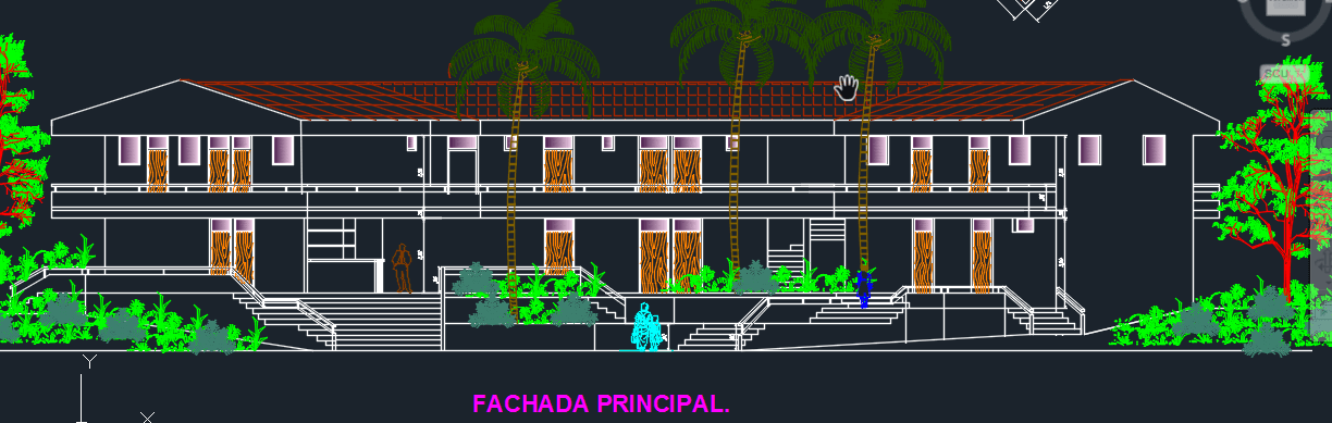 Tourist Hotel 2d Dwg Design Full Project For Autocad