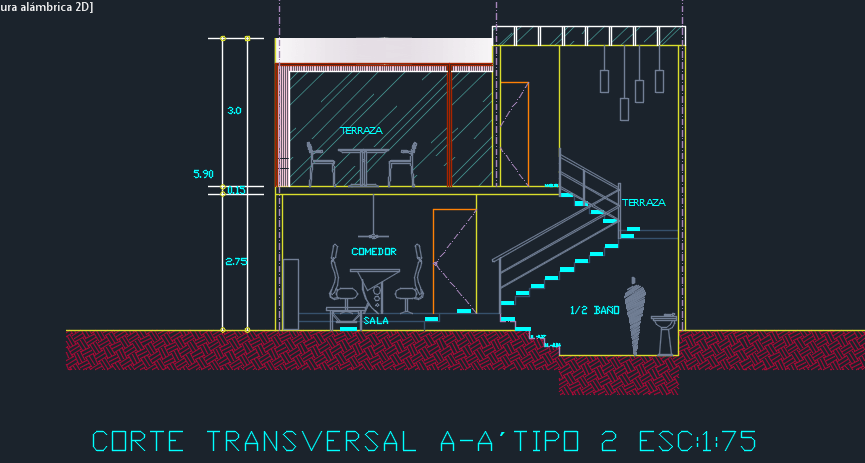 Tourist House 2d Dwg Design Full Project For Autocad