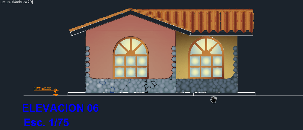 Ecological Cabin 2d Dwg Design Section For Autocad