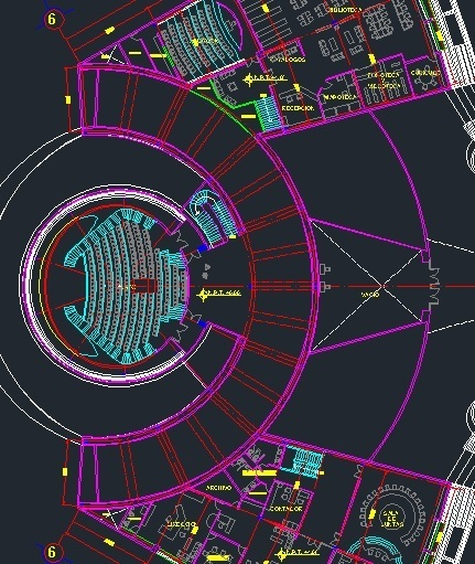 Science Museum With Auditorium 2d Dwg Plan For Autocad