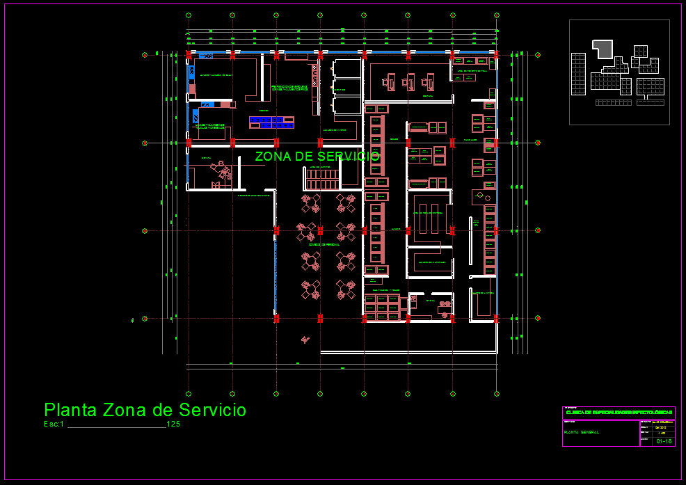 Specialized Infections Hospital 2d Dwg Full Project For