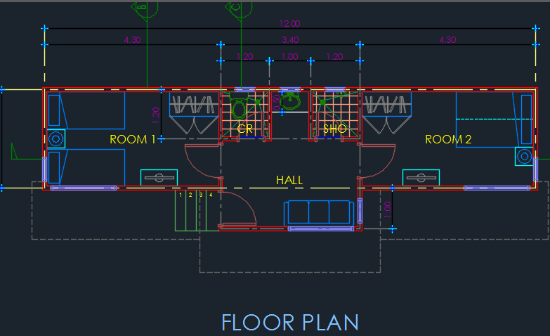 Family Cabin 2d Dwg Design Plan For Autocad Designs Cad