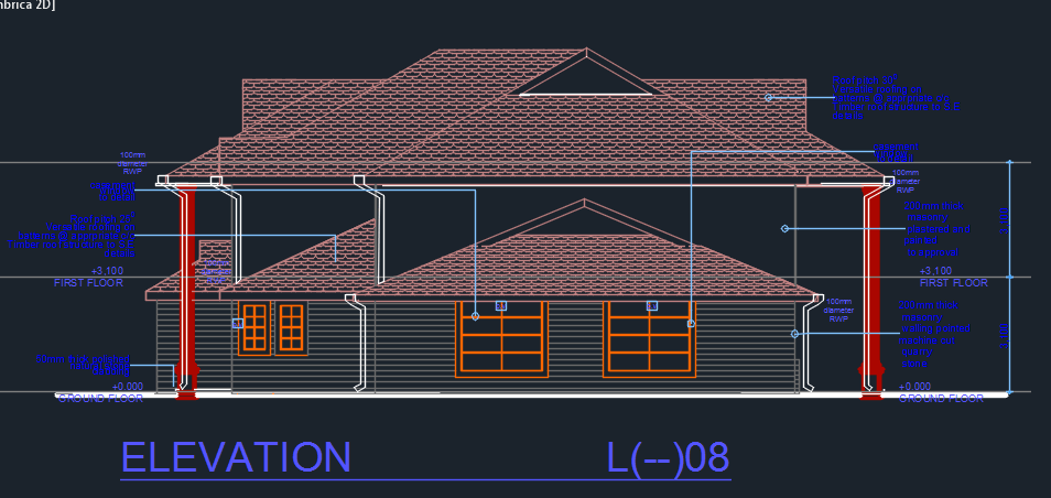 Front Elevation Autocad 2d : Business center d dwg design elevation for autocad
