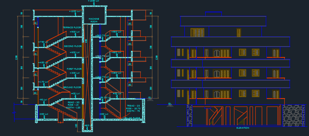 Apartments 2d dwg design plan for autocad designscad for Apartment plans dwg format