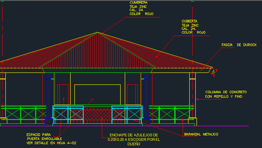 Cafeteria 2D DWG Design Elevation for AutoCAD – Designs CAD