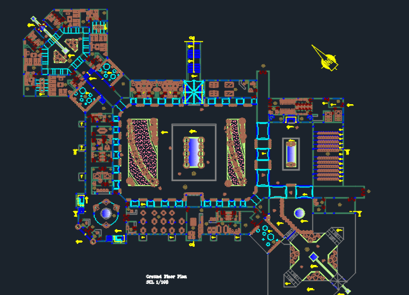 electrical plan switch symbol tourist resort dwg full project for autocad bull designs cad villa electrical plan