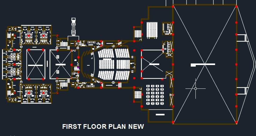 Convention Center 2d Dwg Design Block For Autocad