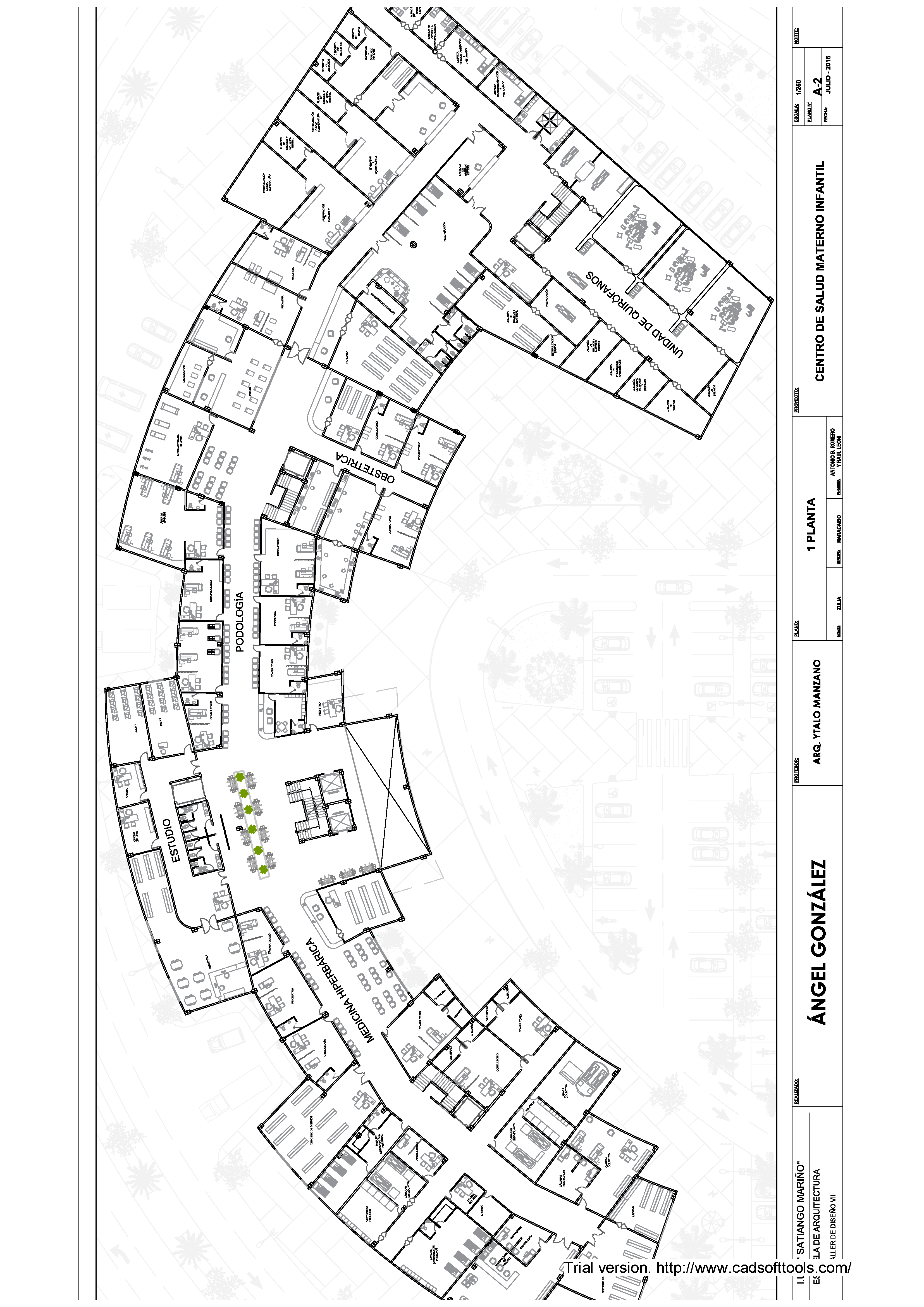 Maternal And Children Hospital 2D DWG plan for AutoCAD