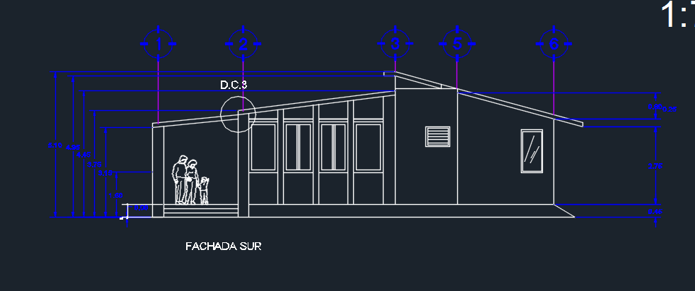 Cabin Elevation 2d Dwg Design Plan For Autocad Designs Cad