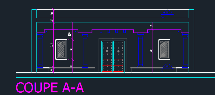 coffee shop 2d dwg design elevation for autocad • designscad