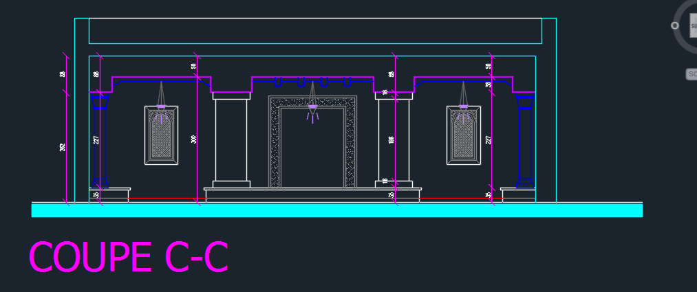 Front Elevation Autocad 2d : Coffee shop d dwg design elevation for autocad designs cad