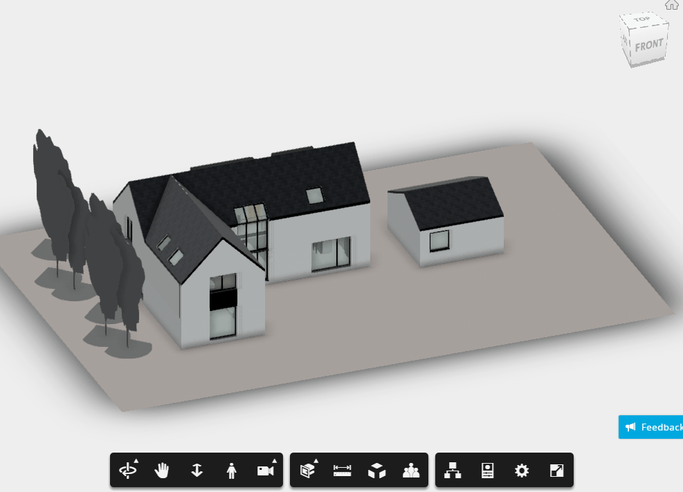 Two Storey Building Elevation : House plan d rvt full project for revit designs cad