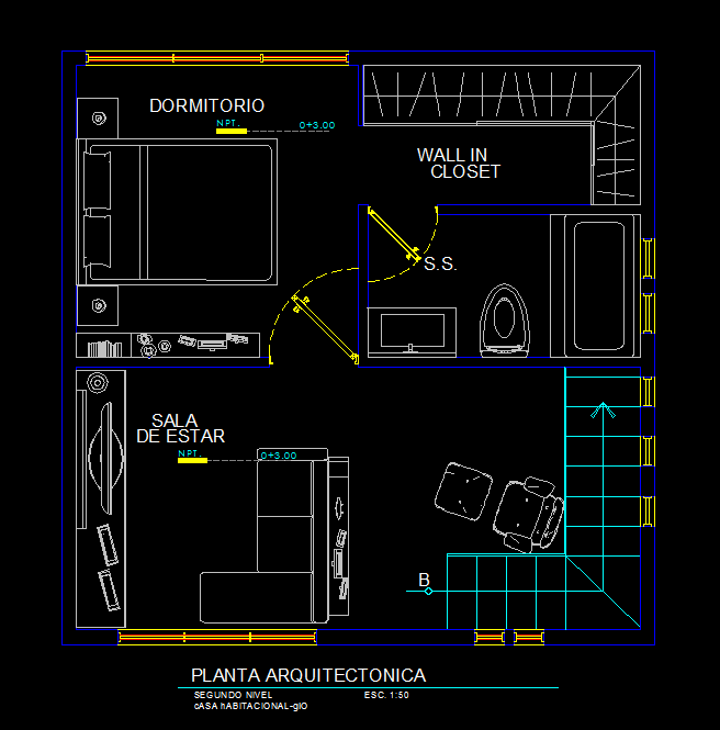 Small Apartment With Garage Dwg Plan For Autocad Designscad