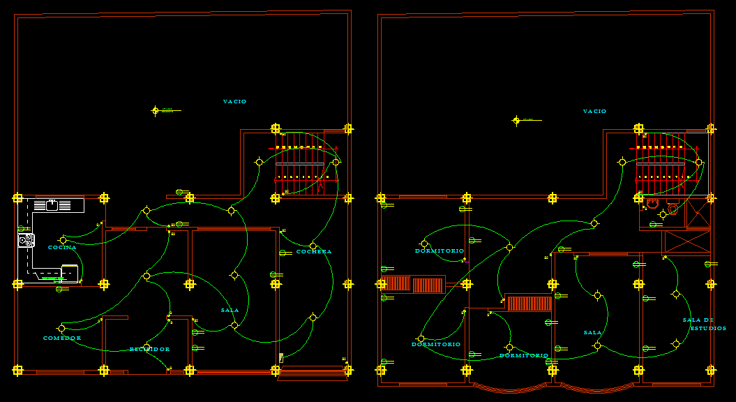 House 2d dwg full plan for autocad designs cad for House electrical design