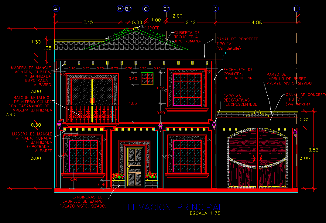 House with large garden on Two Levels 2D DWG Full Project ...