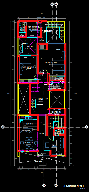 Autocad 3d House Design Software: Single Family House 2D DWG Plan For AutoCAD