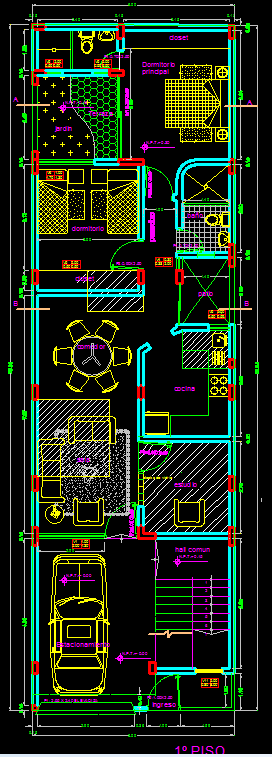 House With Three Apartments Dwg Plan For Autocad Designscad