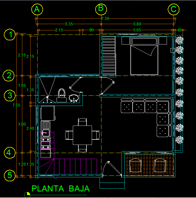 Cottage 2d Dwg Plan For Autocad Designs Cad