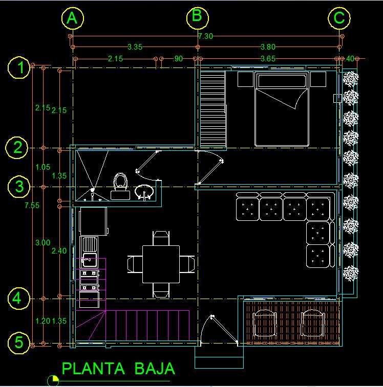house floor plan dwg   home design plan