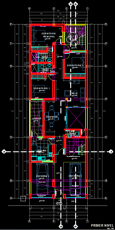 Single Family House 2d Dwg Plan For Autocad Designs Cad
