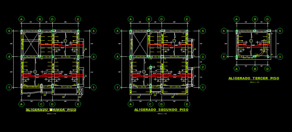 family housing project 2d dwg full project for autocad