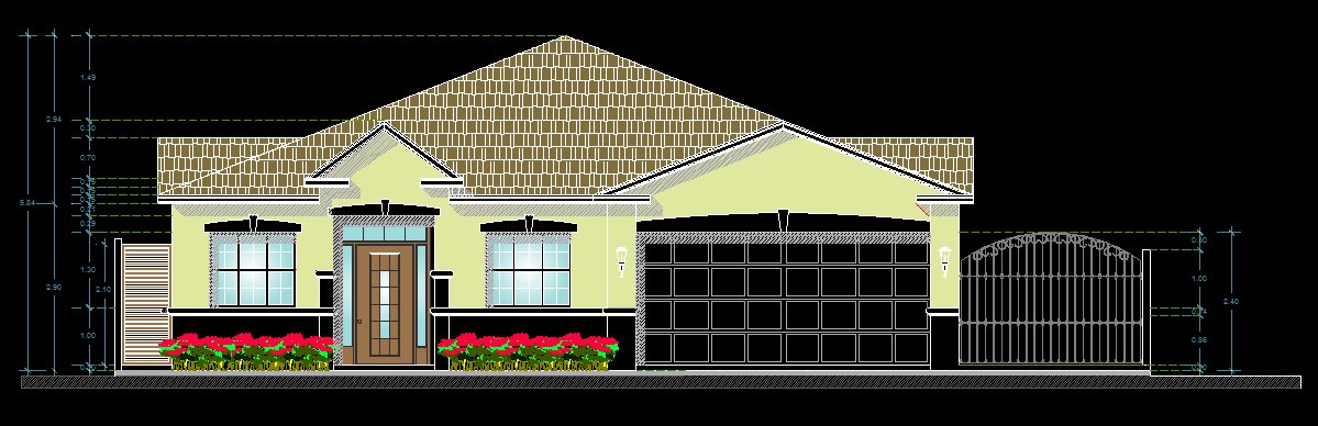american style house 2d dwg plan for autocad  u2013 designs cad