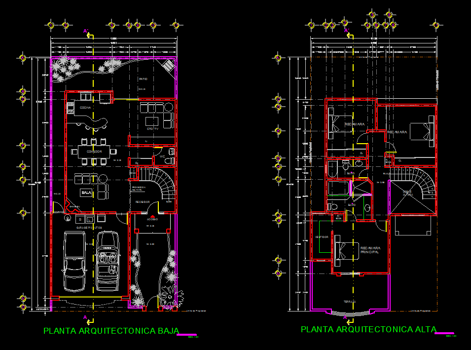 House 2d Dwg Full Plan For Autocad Designs Cad