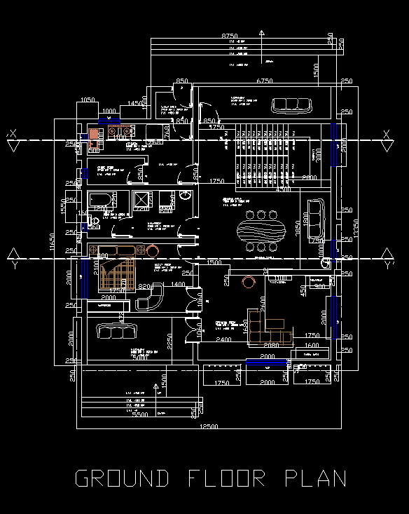 Cad House Design Ipad: House 2D DWG Full Plan For AutoCAD • Designs CAD