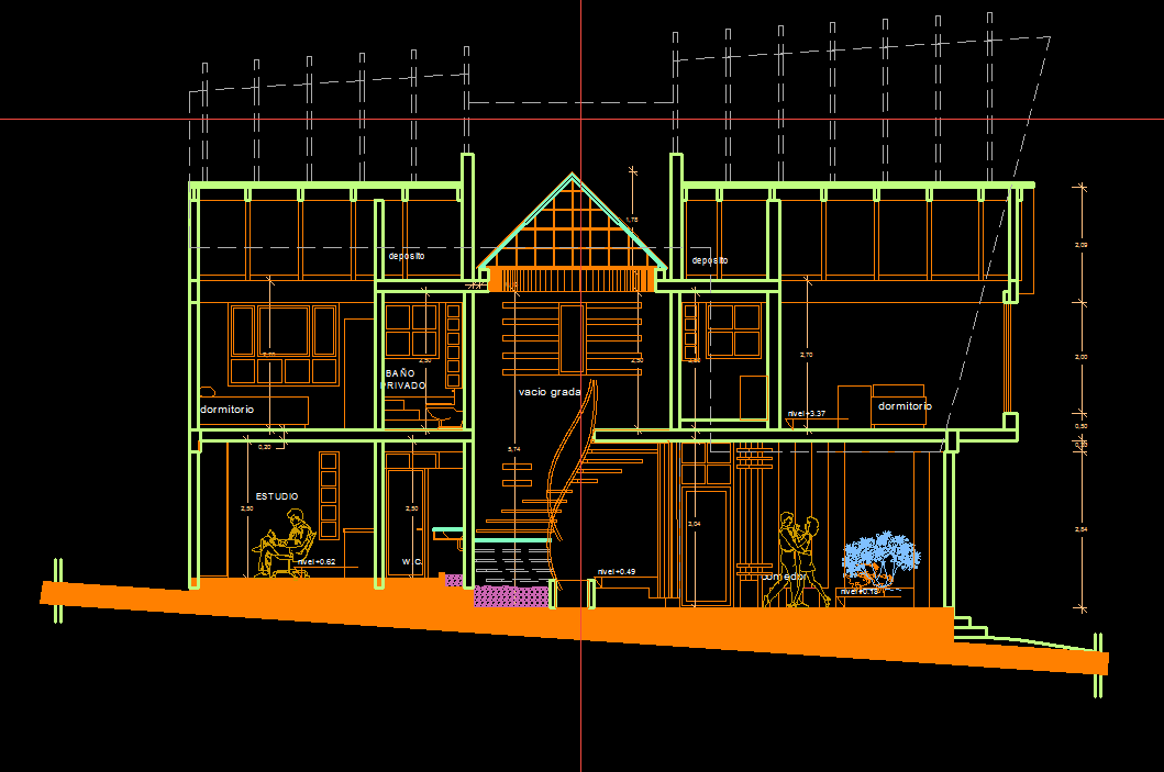 House 2d dwg plan for autocad designs cad - Autocad design home ...
