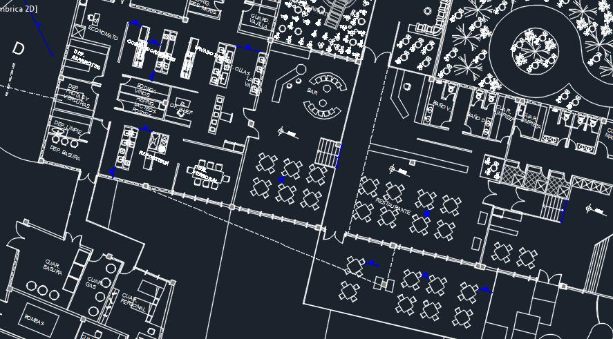 Tourist Complex Section 2d Dwg Design Plan For Autocad
