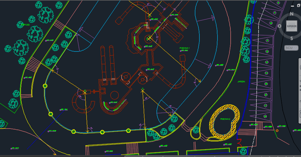 Water park 2d dwg design plan for autocad designs cad 2d design free download