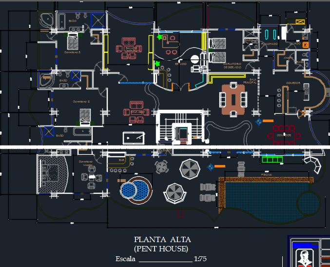 Apartment Building 7 Levels 2d Dwg Design Plan For Autocad
