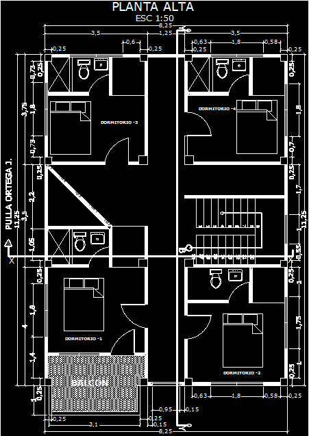 Two Storey House 2d Dwg Plan For Autocad Designscad