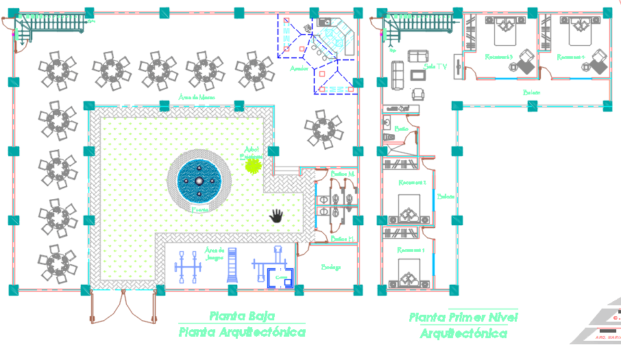 Party room 2d dwg design plan for autocad designscad for Banquet room layout planner