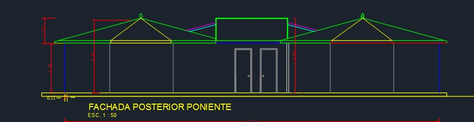 Recreational Center 2D DWG Design Elevation For AutoCAD