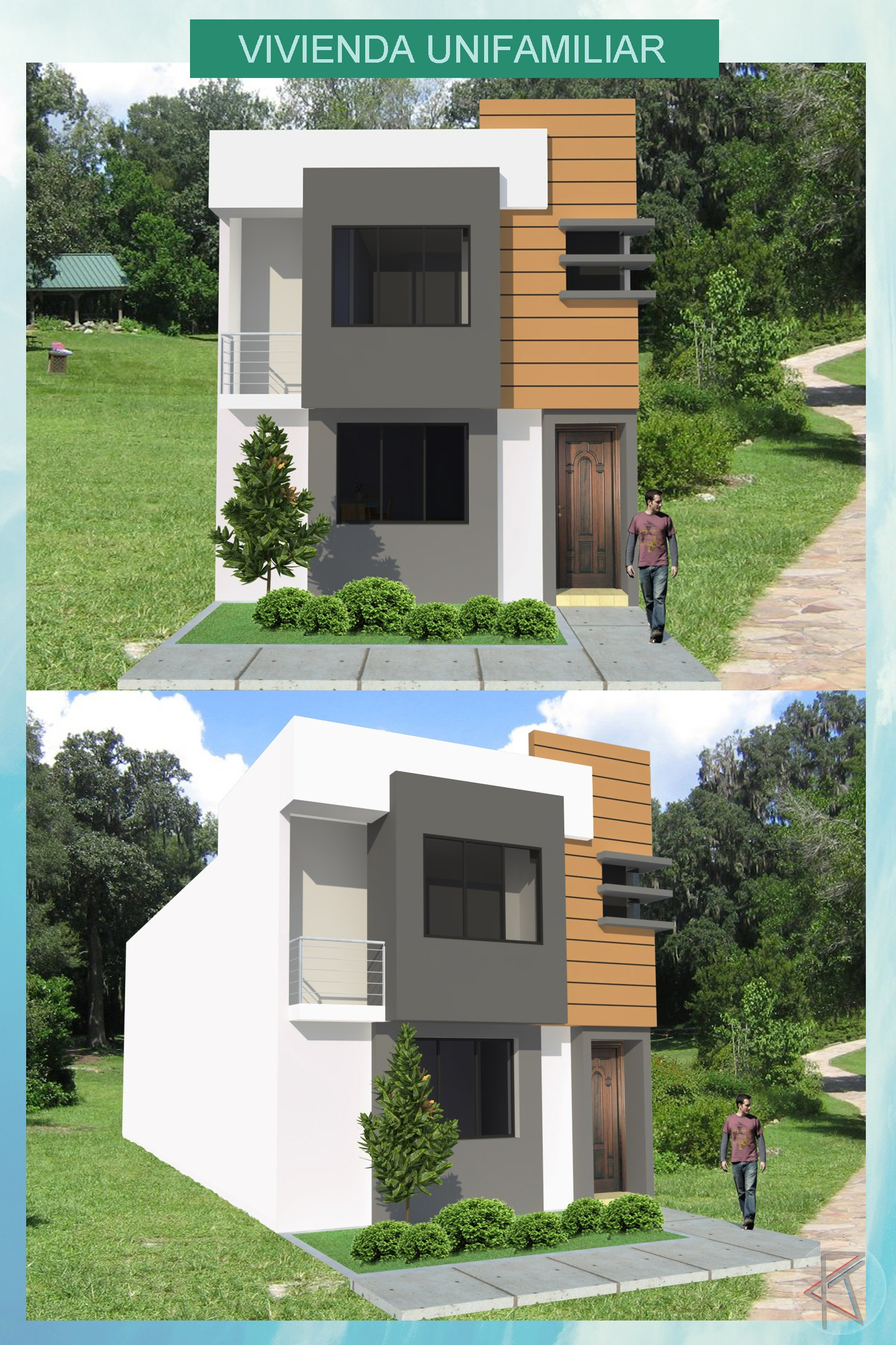 Autocad 3d House Design Software: Single Family House With 3D Images 2D DWG Full Project For