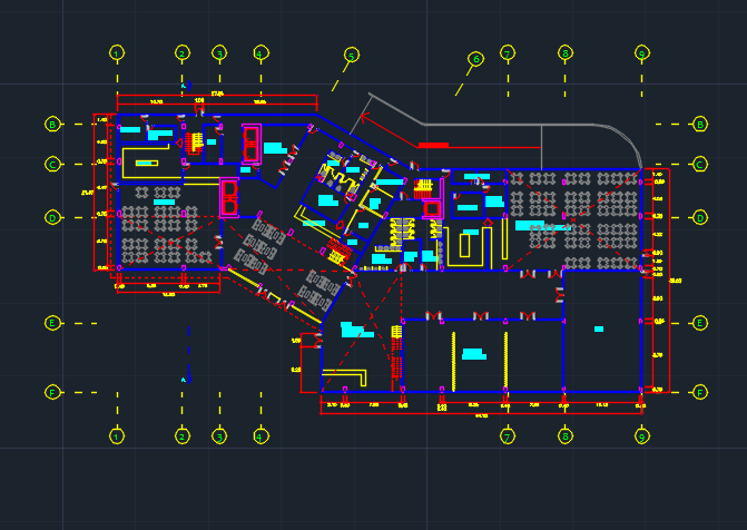 4 stars hotel with convention center 2d dwg plan design for Design hotel 4 stars
