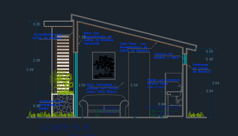 Boungalows Complex With Pool And Playground 2d Dwg Design