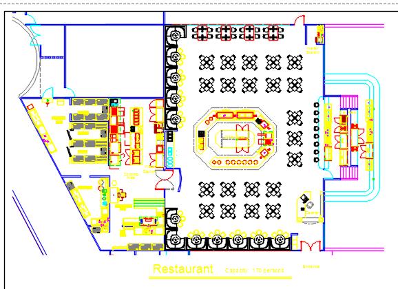 Buffet Restaurant Floor Plans 2d Dwg Design Plan Autocad on 3d Floor Plan